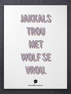 jakkals trou met wolf se vrou